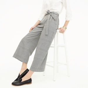 J.Crew Pleated wide-leg pant in glen plaid pants 2